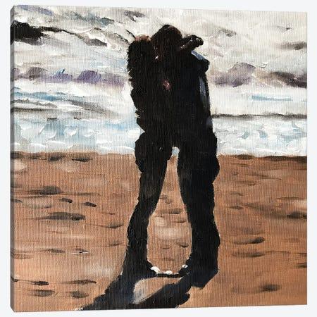 Love On The Beach Canvas Print #JCT89} by James Coates Canvas Wall Art