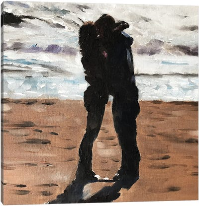 Love On The Beach Canvas Art Print