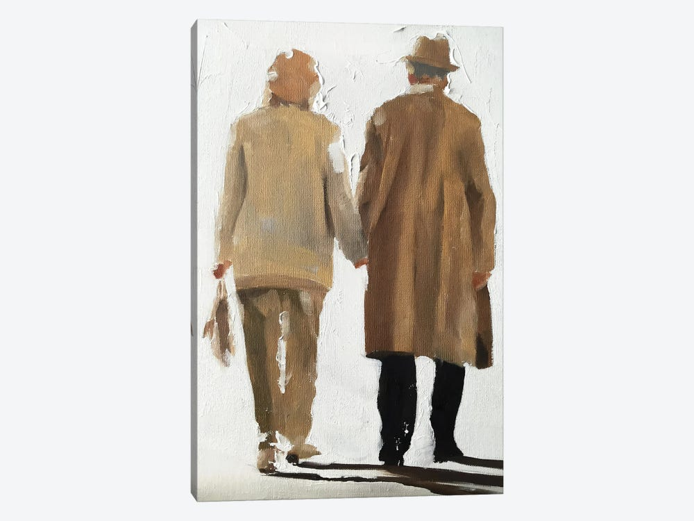 Old Couple Holding Hands by James Coates 1-piece Canvas Artwork