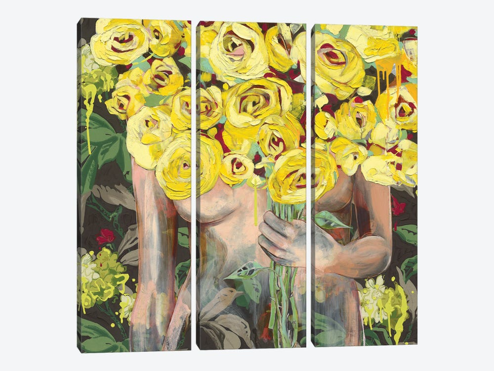 I'm Sure She Winked At Me by Jessica Watts 3-piece Canvas Art Print