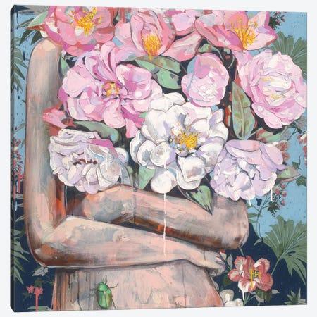 Karma Camellia Canvas Print #JCW14} by Jessica Watts Canvas Print