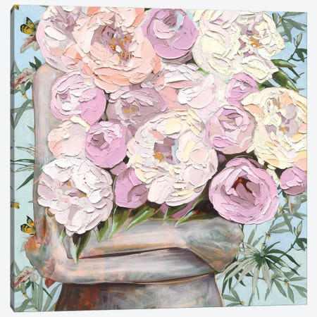 A Parade Of Peonies Canvas Print #JCW1} by Jessica Watts Canvas Wall Art