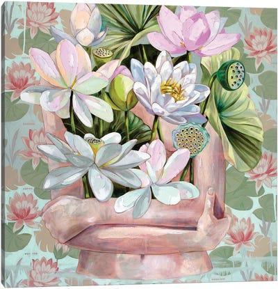 Skinny Dip In Monet's Pond Canvas Art Print