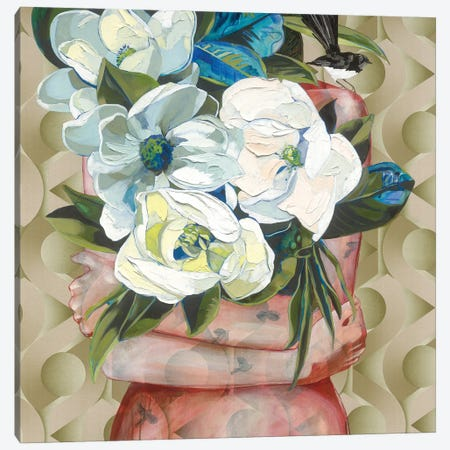 Willy And His Grandiflora Canvas Print #JCW32} by Jessica Watts Canvas Wall Art