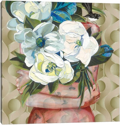 Willy And His Grandiflora Canvas Art Print