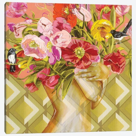 Humming To Myself 3-Piece Canvas #JCW9} by Jessica Watts Canvas Artwork