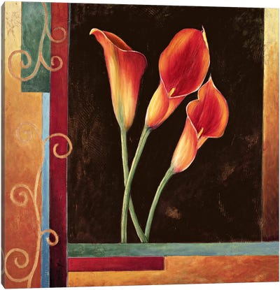 Orange Callas Canvas Print #JDE12