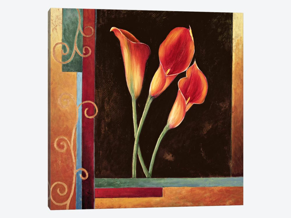 Orange Callas by Jill Deveraux 1-piece Canvas Artwork