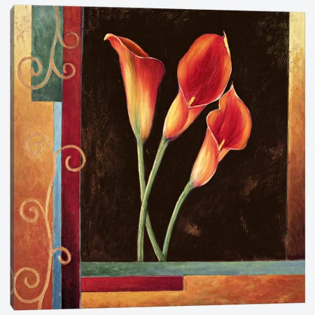 Orange Callas Canvas Print #JDE12} by Jill Deveraux Art Print