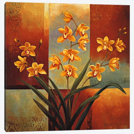 Orange Orchid Canvas Print #JDE13} by Jill Deveraux Canvas Print