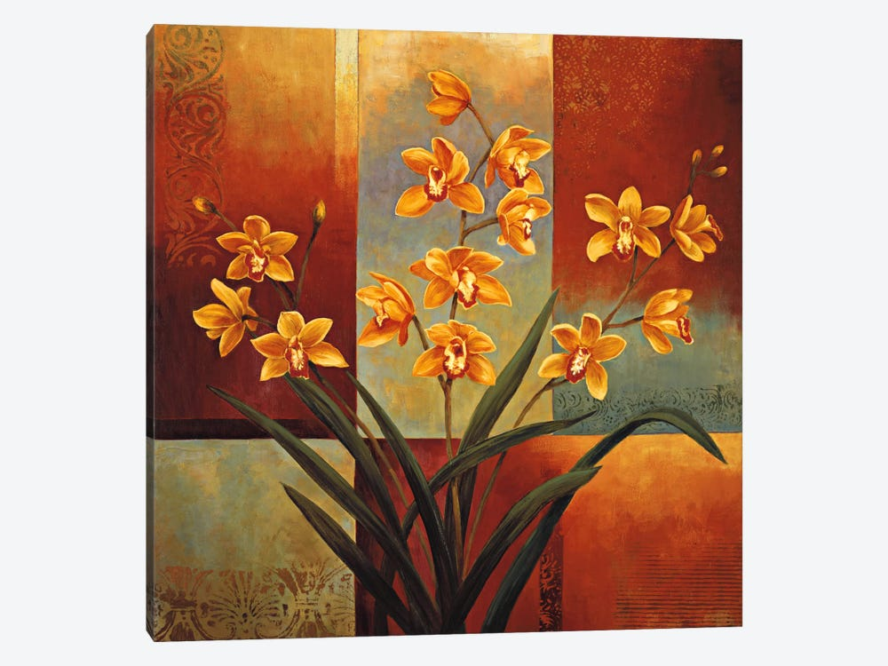 Orange Orchid by Jill Deveraux 1-piece Canvas Print
