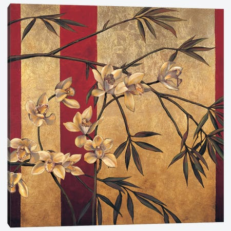 Orchid Screen Canvas Print #JDE15} by Jill Deveraux Canvas Artwork