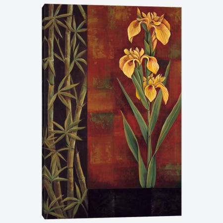 Yellow Iris Canvas Print #JDE21} by Jill Deveraux Canvas Art