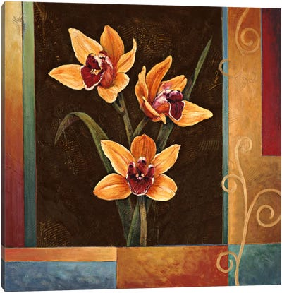 Yellow Orchids Canvas Art Print