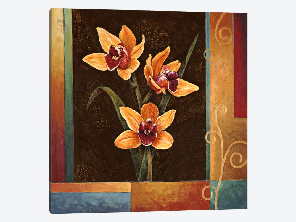 Yellow Orchids by Jill Deveraux 1-piece Canvas Print