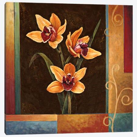 Yellow Orchids Canvas Print #JDE22} by Jill Deveraux Canvas Art