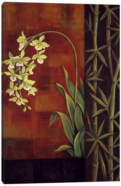 Green Orchid Canvas Art Print