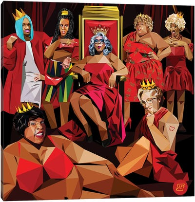 Ghetto Queens Canvas Art Print