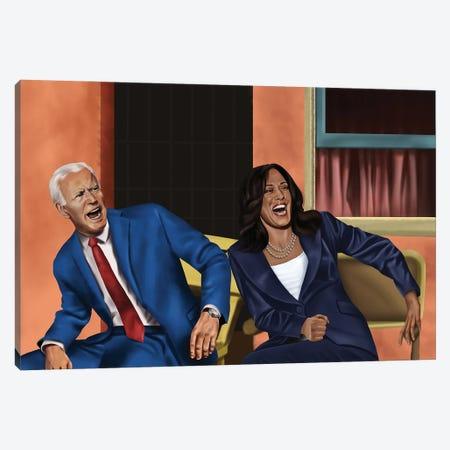 Joe Biden And Kamala Harris Damn Canvas Print #JDG13} by Michael Jermaine Doughty Canvas Art Print