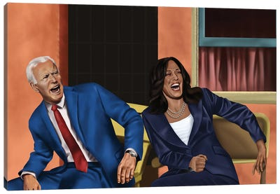 Joe Biden And Kamala Harris Damn Canvas Art Print