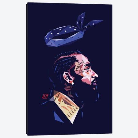 LL Nipsey Canvas Print #JDG18} by Michael Jermaine Doughty Art Print