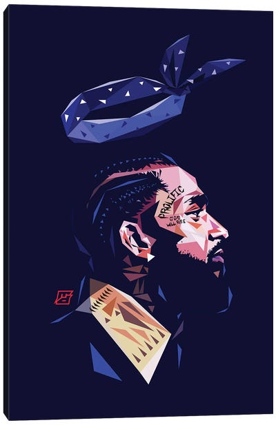 LL Nipsey Canvas Art Print