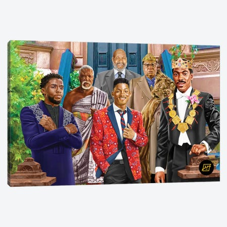 Princes II Kings Canvas Print #JDG23} by Michael Jermaine Doughty Canvas Wall Art