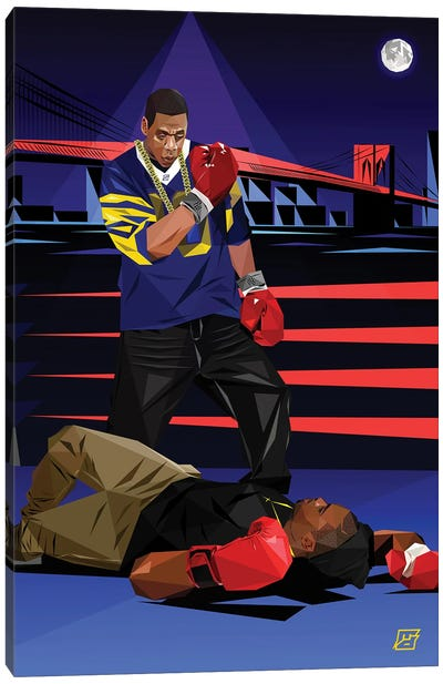 Takeover (Jay Z Vs Nas) Canvas Art Print