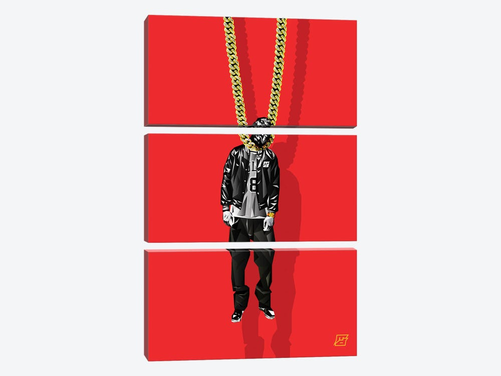 Fools Gold by Michael Jermaine Doughty 3-piece Canvas Art Print