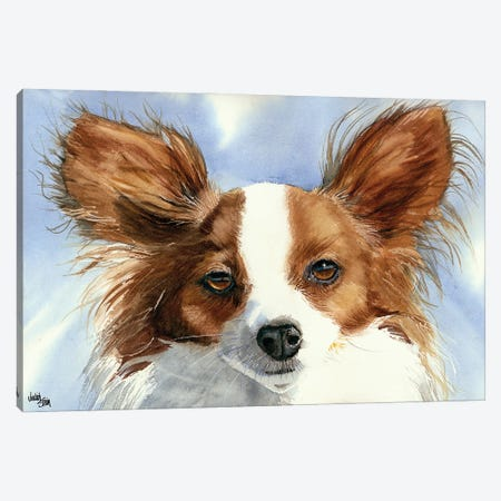 Madame Butterfly - Papillon Dog Canvas Print #JDI103} by Judith Stein Canvas Artwork