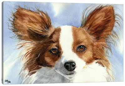Madame Butterfly - Papillon Dog Canvas Art Print