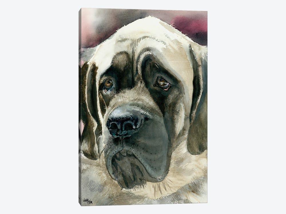 Masty - English Mastiff by Judith Stein 1-piece Canvas Print