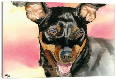 Min Pin - Miniature Pinscher Canvas Art Print