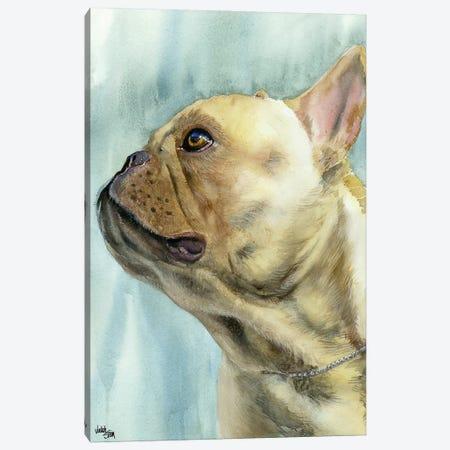 No Biggie - French Bulldog Canvas Print #JDI113} by Judith Stein Canvas Print
