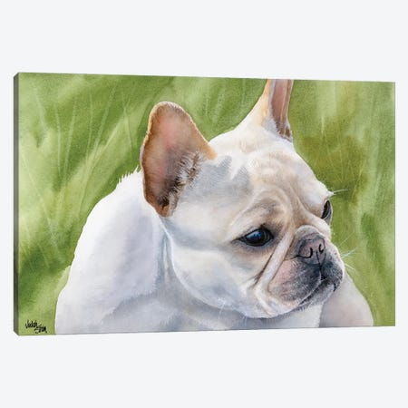Pants - French Bulldog Fawn 3-Piece Canvas #JDI115} by Judith Stein Canvas Artwork