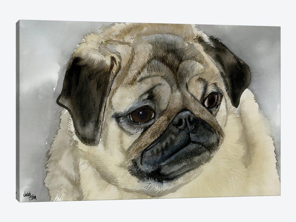 Playful Pug by Judith Stein 1-piece Canvas Art Print