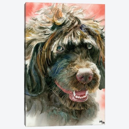 Portie - Portuguese Water Dog 3-Piece Canvas #JDI121} by Judith Stein Canvas Artwork