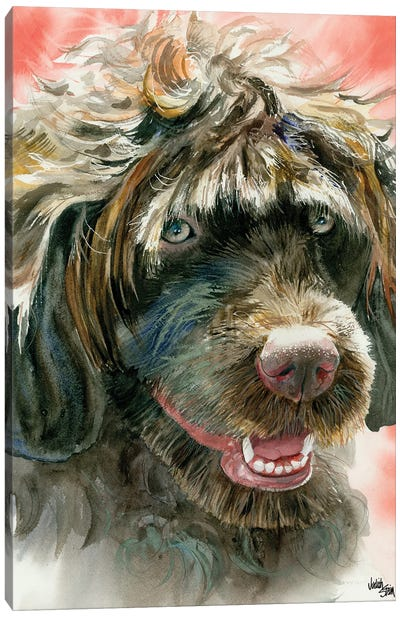 Portie - Portuguese Water Dog Canvas Art Print