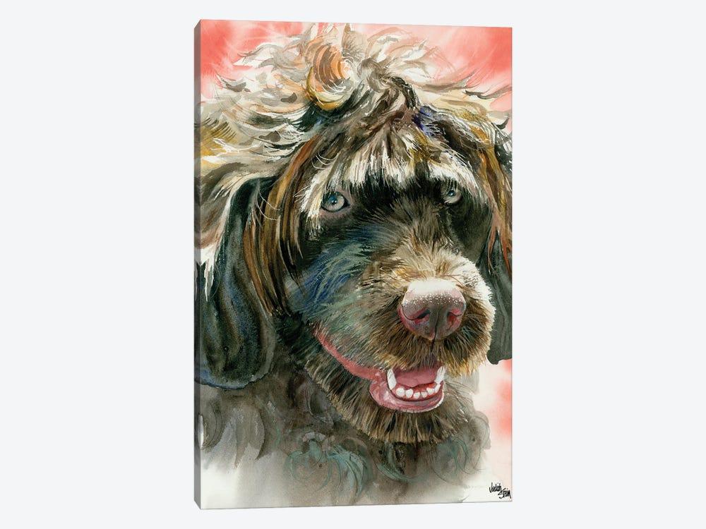 Portie - Portuguese Water Dog by Judith Stein 1-piece Canvas Art