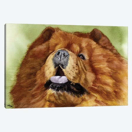 Puffy Lion Dog - Chow Canvas Print #JDI123} by Judith Stein Canvas Wall Art