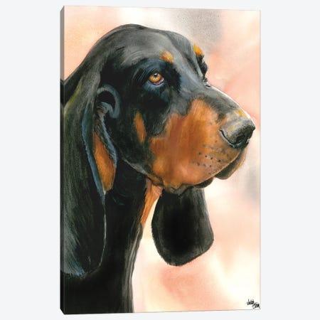 R & B - Black & Tan Coonhound Canvas Print #JDI128} by Judith Stein Canvas Artwork