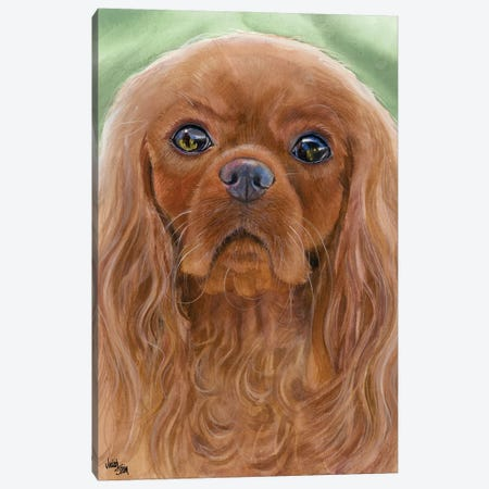 Ruby Slippers - Cavalier King Charles Spaniel Canvas Print #JDI132} by Judith Stein Canvas Print