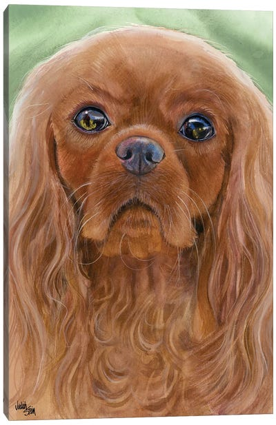 Ruby Slippers - Cavalier King Charles Spaniel Canvas Art Print
