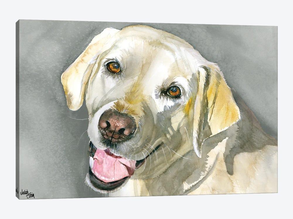 Sassy Lady - Yellow Labrador Retriever by Judith Stein 1-piece Canvas Art Print