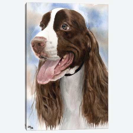 Spring into Action - English Springer Spaniel 3-Piece Canvas #JDI145} by Judith Stein Canvas Art Print