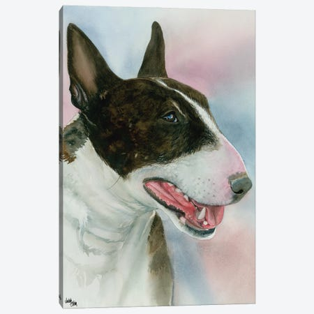 Spuds - Bull Terrier Dog Canvas Print #JDI147} by Judith Stein Canvas Art Print