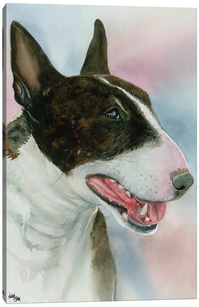 Spuds - Bull Terrier Dog Canvas Art Print