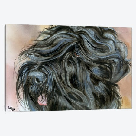 Stalin's Dog - Black Russian Terrier Canvas Print #JDI149} by Judith Stein Canvas Art