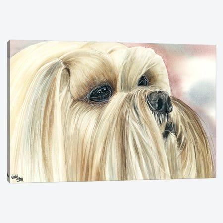 Bearded Lion Dog - Lhasa Apso Canvas Print #JDI14} by Judith Stein Canvas Art