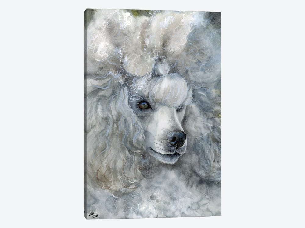Sterling Silver - Miniature Poodle by Judith Stein 1-piece Canvas Art